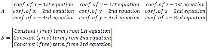 3x3 Matrix Equation