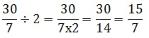 How to divide a fraction by a whole number