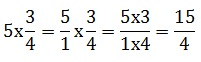 How to multiply a fraction by a whole number