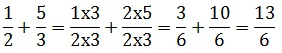 How to add fractions having different denominators