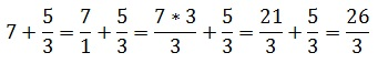 How to add an integer number to a fraction