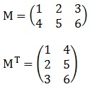 Transpose Matrix Example